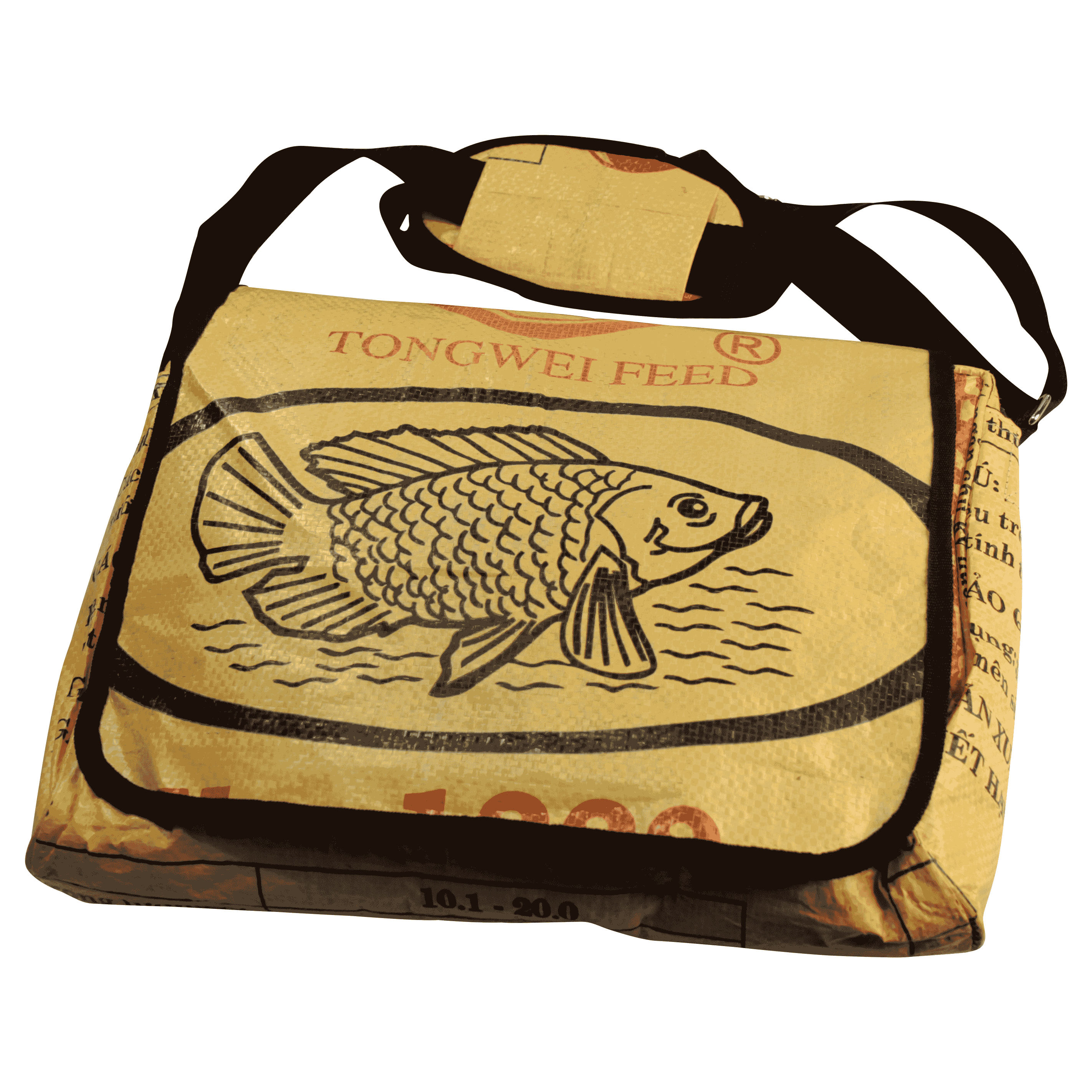 Laptoptas geel vis