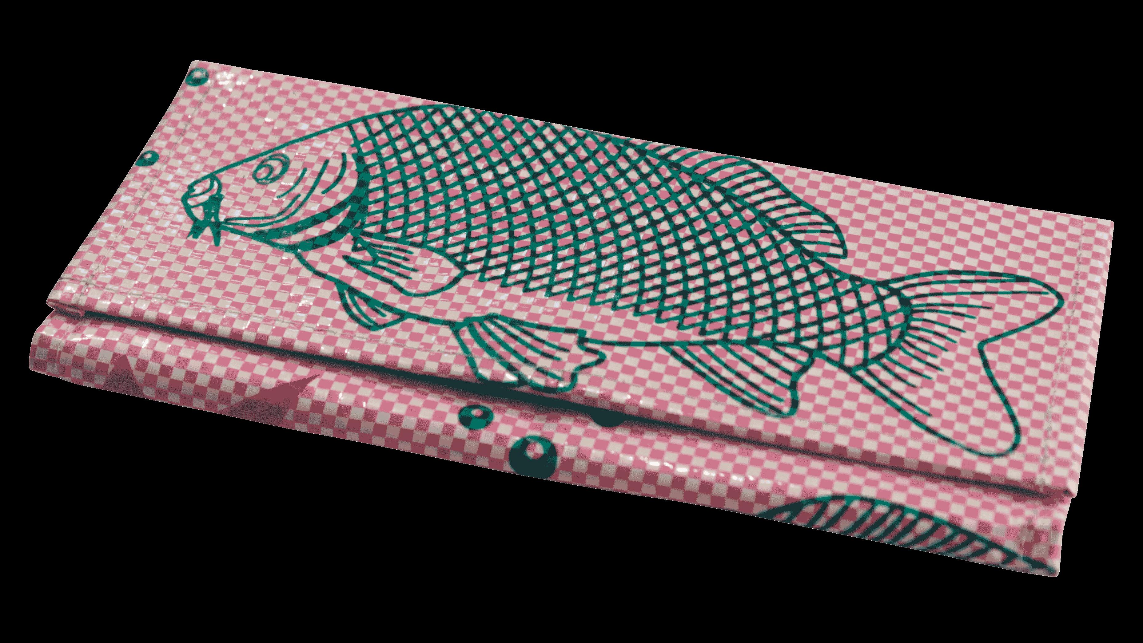 Portomonnaie -groot -  roze vis