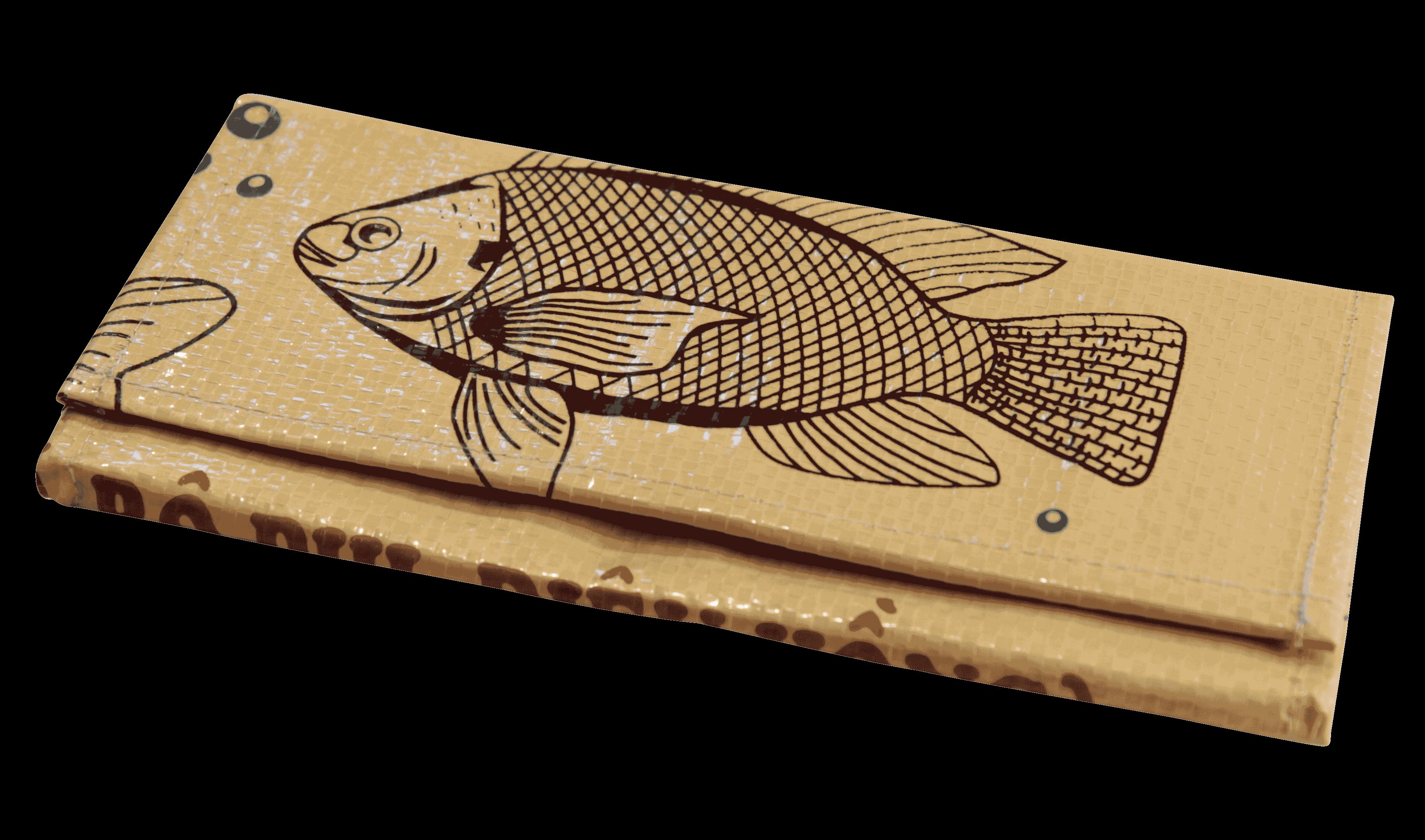 Portomonnaie -  groot - Wit vis