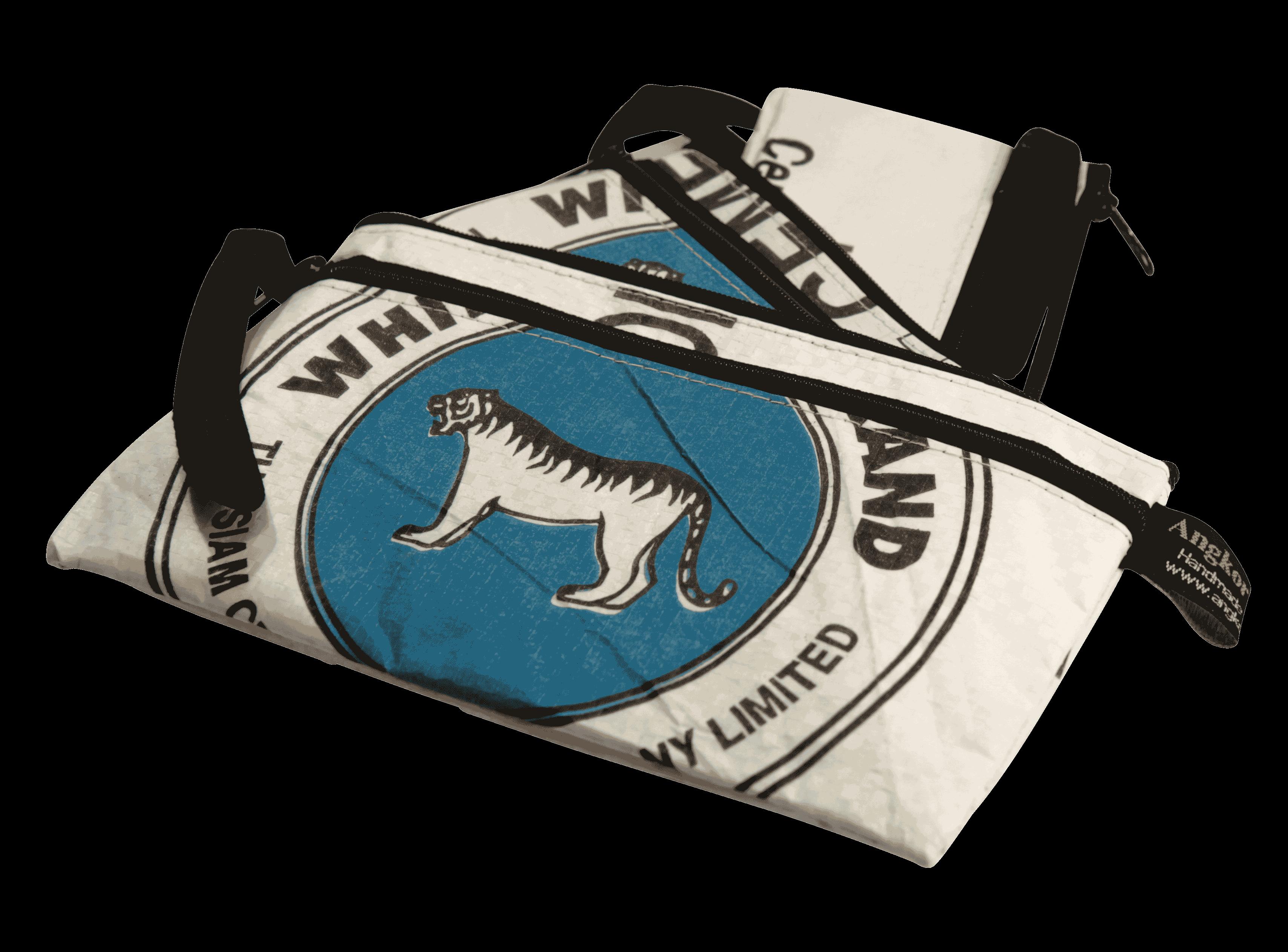 Set van 3 etuis - klein - blauwe tijger