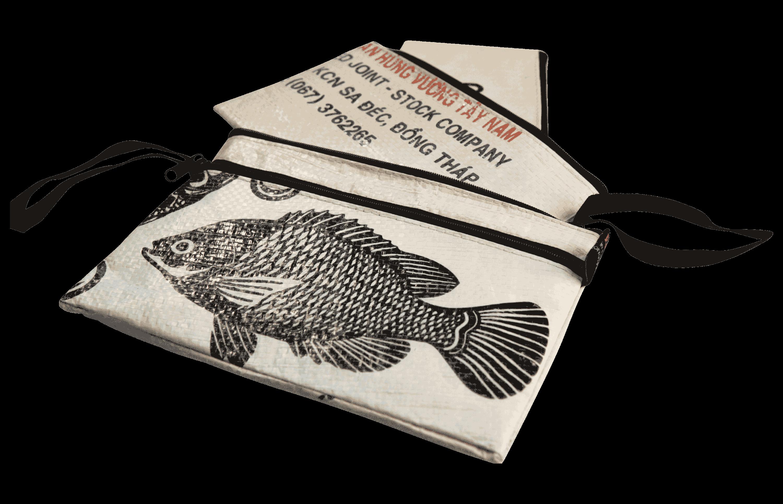 Set van 3 etuis - groot - witte vis